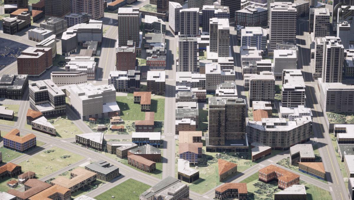 آبجکت شهر سه بعدی